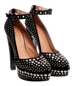 These Azzedine Alaia studded platforms are pretty bad ass and drool-worthy.....