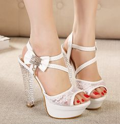 ada9d31e5250 Hot Pumps! Free Shipping 2014 New Hot 14cm High Heels Shoes Women Fashion  Pumps Sexy Bow Tie Platform Open Toe Sandals-in Women s Pumps from Shoes on  ...