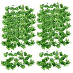 $12.72+ FREE shipping Green 7.9ft Long Artificial Grape Leaves for Home Wall Decor 12 Pcs