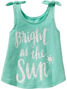 Bow-Tie Graphic Tanks for Baby Little Girl Outfits, Little Girl Fashion, Little Girls, Tween Fashion, Toddler Fashion, Fashion Outfits, Kids Wear, Children Wear, Maternity Wear