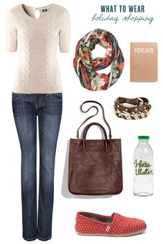 What to wear holiday shopping - cute and comfy