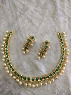 When It Comes To High Quality Jewelry Tips And Tricks, We've Cornered The Market – Modern Jewelry India Jewelry, Pearl Jewelry, Antique Jewelry, Jewelry Necklaces, Gold Jewelry, Gold Necklace, Green Necklace, Silver Earrings, Bracelets