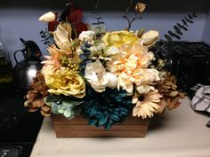 Custom Designed Floral Centerpieces with by PenelopeKDesigns