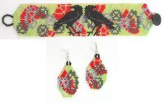 Steampunk Raven Bracelet & Earrings, Sova Enterprises