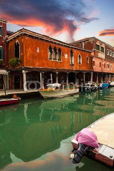 Murano At Sunset, Venice, venetian Lagoon, Italy, Italia  Available at Fotolia from $1.50