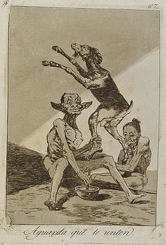 'Aguarda que te unten': Goya