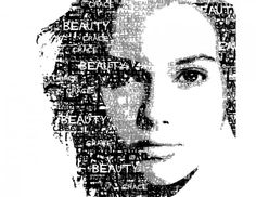 Optical Illusions Drawings, Hatch Art, Typography Portrait, Text Portrait, A Level Art, Art Classroom, Calligraphy Art, Word Art, Statue