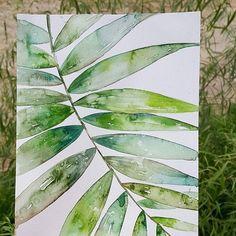 너무 더운 오늘... 그림이라도 시원하게 ㅋㅋ#나뭇잎 #식물 #이파리 #인테리어액자 #수채화 #수채화일러스트 #수채일러스트 #watercolor #plants