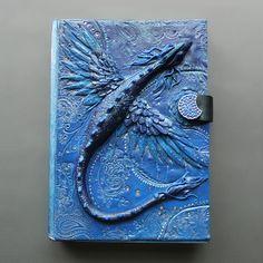 """""""Azure Dreamer"""" Polymer Clay Journal by Mandarin Duck www.mandarin-duck.com"""