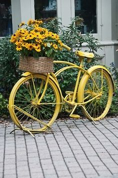 bicycles with flowers