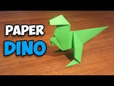 To Make an Easy Origami Dinosaur In this tutorial i& teach you to make., How To Make an Easy Origami Dinosaur In this tutorial i'll teach you to make., How To Make an Easy Origami Dinosaur In this tutorial i'll teach you to make. Origami Easy Step By Step, Easy Origami For Kids, How To Make Origami, Useful Origami, Simple Origami, Easy Oragami, Origami Design, Instruções Origami, Origami Ball