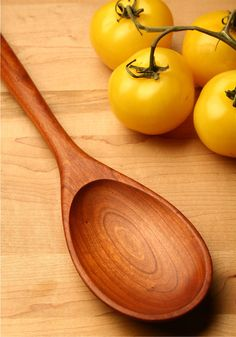 Big manly wooden spoon carved from Cherry wood by KitchenCarvings, $27.00