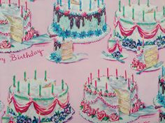 Vintage Gift Wrapping Paper Detailed Happy by TheGOOSEandTheHOUND, $6.00