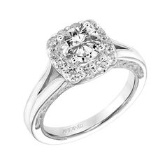 I'm loving this #engagementring by @artcarvedbridal! A perfect mix of modern and vintage!  #shesaidyes! #mcgeejewelers