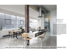 "Solenne de la Fouchardière  Designbüro ""Chre""  Küche in ehemaliger Kleiderfabrik in London, Shoreditch"