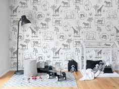 Kinderkamer Patronen Behang : Beste afbeeldingen van kinderkamer in murals wall