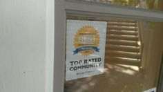 Thank you to Fred Lind Manor in Seattle for sharing the Top Rated badge you have on your door! Congratulations!