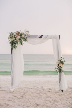 Simple beach wedding decor wedding arch 20 Charming Beach Wedding Arches You'll Love Wedding Ceremony Arch, Beach Ceremony, Beach Wedding Arches, Wedding Church, Wedding Receptions, Beach Wedding Ceremonies, Wedding Arch With Flowers, Arch For Wedding, Wedding Bride