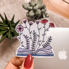 This is my waterproof and handmade floral Book-Sticker. Sticker Ideas, Stickers, Sticker Shop, Art Drawings Sketches, Art Inspo, Macbook, Tarot, Doodles, Pencil