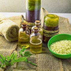 Rezept für Kräuter Duschgel - mit nur 4 Zutaten - für ein wunderbar duftendes Duschgel