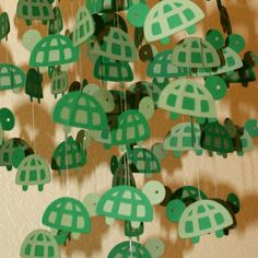 Tiny Turtles Mobile 12 Ring Made to Order by artCboutique Turtle Tots, Tiny Turtle, Diy For Kids, Crafts For Kids, Arts And Crafts, Paper Crafts, Turtle Birthday Parties, Turtle Party, Turtle Classroom