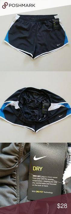 NWT Nike Running Shorts New Nike running shorts with built in undies. Dark gray almost black. Nike Shorts