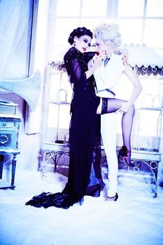 Snow Queen Vodka 2013 Calender shoot, shot by Ellen Von Unwerth. Apartment 58 hosted the launch party in December at Gallery Different