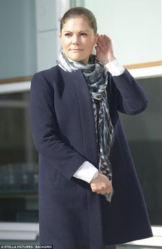 Sweden's Crown Princess Victoria, 40, displayed her maternal side as she stepped out for a hike through the country's picturesque Blekinge district on Friday