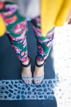 Tsubo Triss sandals with Anthropologie green trouser pant on M Loves M @marmar