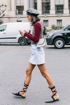 Street style PFW SS18  #ShopStyle #shopthelook #OOTD #TravelOutfit #WeekendLook #WearToWork