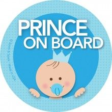 Personalised Child//Baby On Board Car Sign ~ Nephew On Board ~ L.Blue