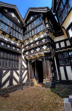 Little Moreton Hall Constructed between 1504 and 1610. Tudor
