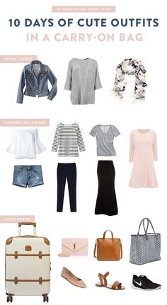 Travel style: How to mix & match outfits to pack light for vacation! Also works for planning a capsule wardrobe. Click the image for numerous outfit ideas that are both comfortable and stylish.
