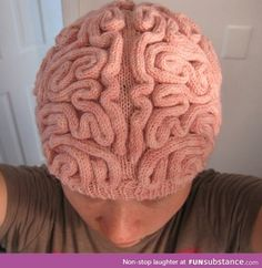This creative Brain Hat knitting pattern by Alana Noritake, is just too cool not to make. Knit one up in a jiffy for your next Halloween party. knit hat pattern Brain Hat (Knitting pattern) pattern by Alana Noritake Knit Or Crochet, Crochet Crafts, Ravelry, Knitting Patterns, Crochet Patterns, Confection Au Crochet, Big Knits, Diy Hat, Beanie Hats