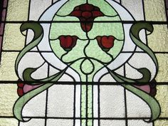 art nouveau stained glass windows - Google Search