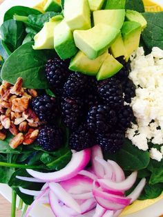 Blackberry Spinach Salad with Coconut Citrus Dressing