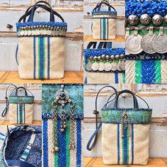 """Boho bag - grainsack bag - tote bag - handbag - festival bag - shoulder bag met een """"tribal touch"""". De basis voor deze volledig handgemaak..."""