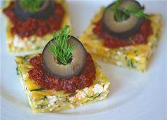 Vegan Herb & Feta Polenta Appetizers. These look delish!