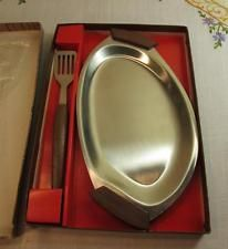 Vintage - Stainless Steel - Serving Party Nibbles Tray - Boxed - 1950s / 1960s