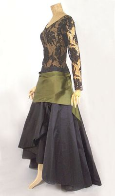 Lanvin evening gown, c.1960, from the Vintage Textile archives.