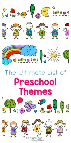 A great list of preschool themes for back to school preschool planning! Includes preschool activities, crafts, preschool lesson plans, and preschool teaching ideas! September Preschool Themes, Preschool Classroom Themes, Daycare Themes, Daycare Curriculum, Teaching Themes, Preschool Activities, Preschool Learning Centers, Classroom Ideas, Preschool Readiness