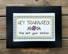 Subversive Cross Stitch Floral Pattern Snarky Embroidery