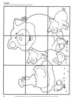 Rompecabezas Farm Activities, Animal Activities, Animal Crafts, Preschool Activities, Farm Animals Preschool, Preschool Worksheets, Farm Lessons, Farm Unit, Farm Theme