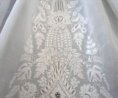 Maria Niforos - Fine Antique Lace, Linens & Textiles : Antique Christening Gowns & Children's Items # CI-87 Circa 1860's Exquisite Ayrshire Christening Gown