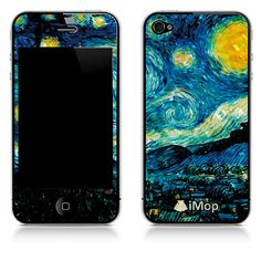 Skins made from Mother of Pearl! Van Gogh- Starry Night