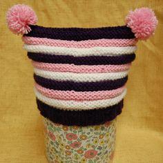 Double Pom-Pom Baby Hat   AllFreeKnitting.com