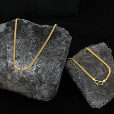 18 inches 2 mm 22kt Solid Gold Chain Necklace For men women   Etsy Silver Chain Necklace, Men Necklace, Sterling Silver Necklaces, Thin Gold Chain, Gold Chains, Wedding Anniversary Gifts, Gold Style, Handmade Necklaces, Handmade Silver