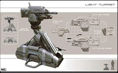 Drop pod, robot, drone, gun emplacement, turret