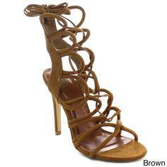 FIT Beston CB61 Women's Stiletto Up Gladiator Heels (-5.5)