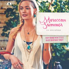 Moroccan Summer Capsule Collection - Shop brand-new styles on my boutique today! www.chloeandisabel.com/boutique/alisonalonzo